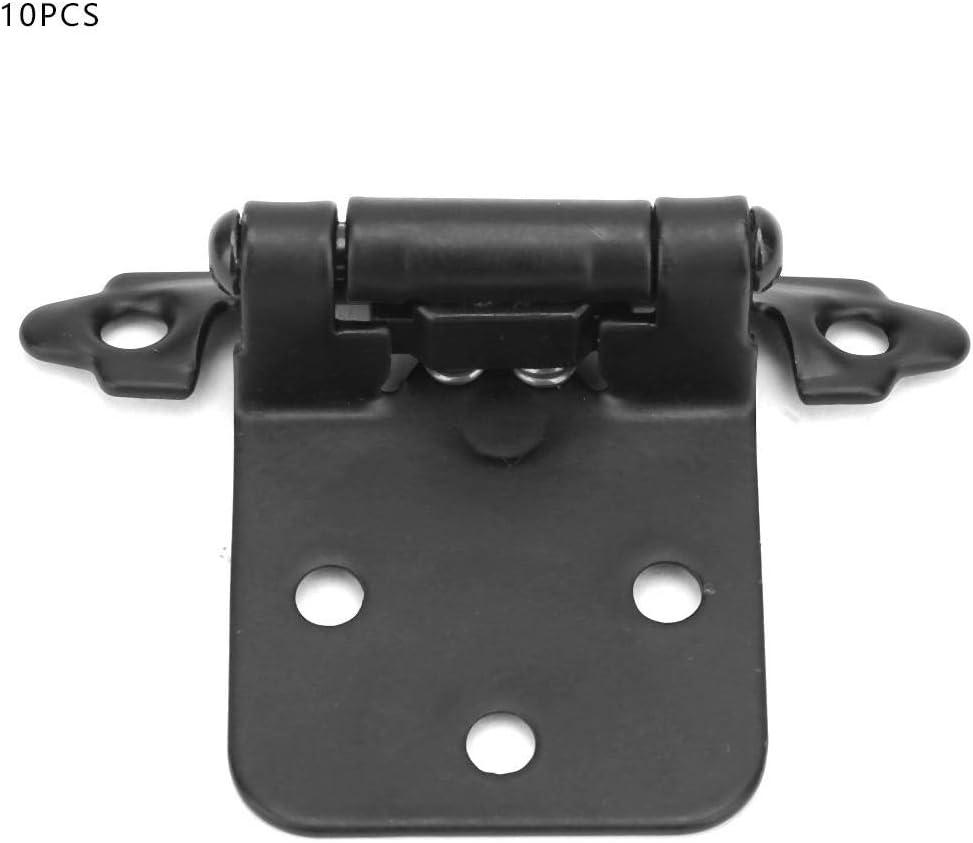 Bisagra de cierre autom/ático americano de 10 piezas Bisagra de cierre autom/ático de resorte Bisagra de gabinete de cocina Bisagra de hierro 1.4 mm bronze