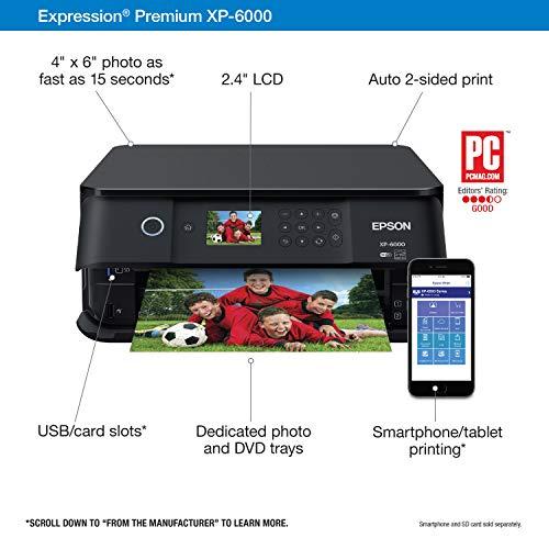Epson Premium XP-6000 Wireless with Scanner Amazon Dash