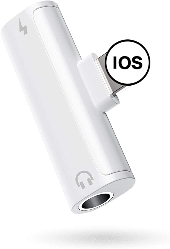 for iPhone 3.5mm Headphone Adapter Jack AUX Audio Accessory Connector Compatible Dongle Earphone Adapter for iPhone 7Plus//8//XR//XS Max//11 Pro Max Connector Adapter Audio Car Charger New iOS All System