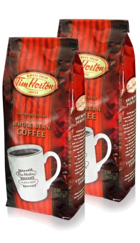 Tim Hortons Whole Bean Coffee 2lb (Pack of 2)