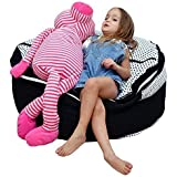 2 Sizes in 1 Large Bean bag Stuffed Animal Storage | XL Jumbo Ottoman for Soft Toys, Plush Toys | Giant Pouf Organizer…