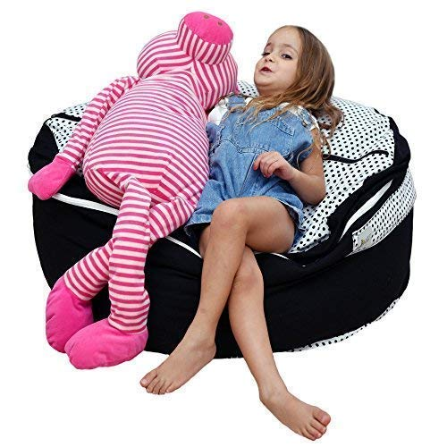 - 2 Sizes in 1 Large Bean bag Stuffed Animal Storage | XL Jumbo Ottoman for Soft Toys, Plush Toys | Giant Pouf Organizer for Linens, Quilts, Pillows | 300 L. / 80 Gal. | 42