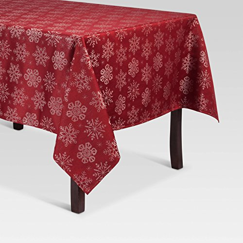 Threshold Red Jacquard Tablecloth - 60X104