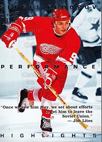 (CI) Sergei Fedorov Hockey Card 1994-95 Ultra Sergei Fedorov 4 Sergei Fedorov