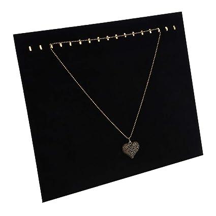 1 X Negro Terciopelo collar y pendiente de joyería Display Stand herramientas Titular