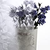 Coavas Window Film Privacy No-Glue Glass Decorative Window Cling Removable Privacy Window Tints for Home and Kitchen,35-inch by 78.7-inch …