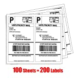 Shipping Label Printer - MFLABEL 200 Half Sheet - Shipping Labels - 5-1/2