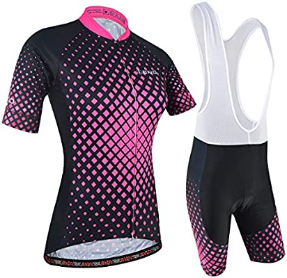 BXIO Maillot Ciclismo Mujer, Ciclismo Conjunto de Ropa con Culotte ...