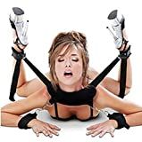 EOYEA Soft Pillow Ankle Cuffs Hand Cuffs Fetish Bed Bondage Restraint Collection For Female Male Couple (Black)