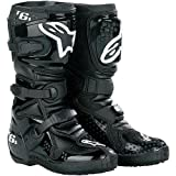 Alpinestars Tech 6S Youth Boots , Size: 2, Distinct Name: White/Silver, Size Segment: Youth, Primary Color: White, Gender: Boys 201506292