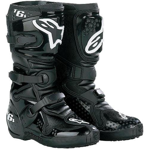 Alpinestars Youth Tech 6S Boots - 4 US Youth/Black/Black (Alpina Alpine Boot)