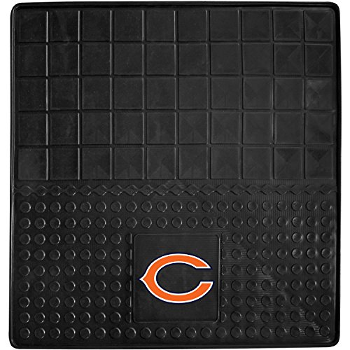 DH 31 X 31 Inches NFL Bears Cargo Mat, Football Themed Car Flatbed Trunk Vinyl Square Trunk Carpet Sports Patterned, Team Logo Fan Merchandise Athletic Team Spirit, Orange Blue Black by DH