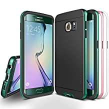 Galaxy S6 Edge Case, Obliq [Dual Poly Bumper] [Green, Pink, White] Thin Slim Fit Bumper Armor Scratch Resist Polycarbonate Finish Dual Layered Heavy Duty Hard Protection Hybrid High Quality Cover (for Samsung Galaxy S6 Edge)