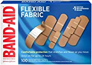 Band-Aid Brand Flexible Fabric Adhesive Bandages for Wound Care & First Aid, Assorted Sizes, 100 ct, B