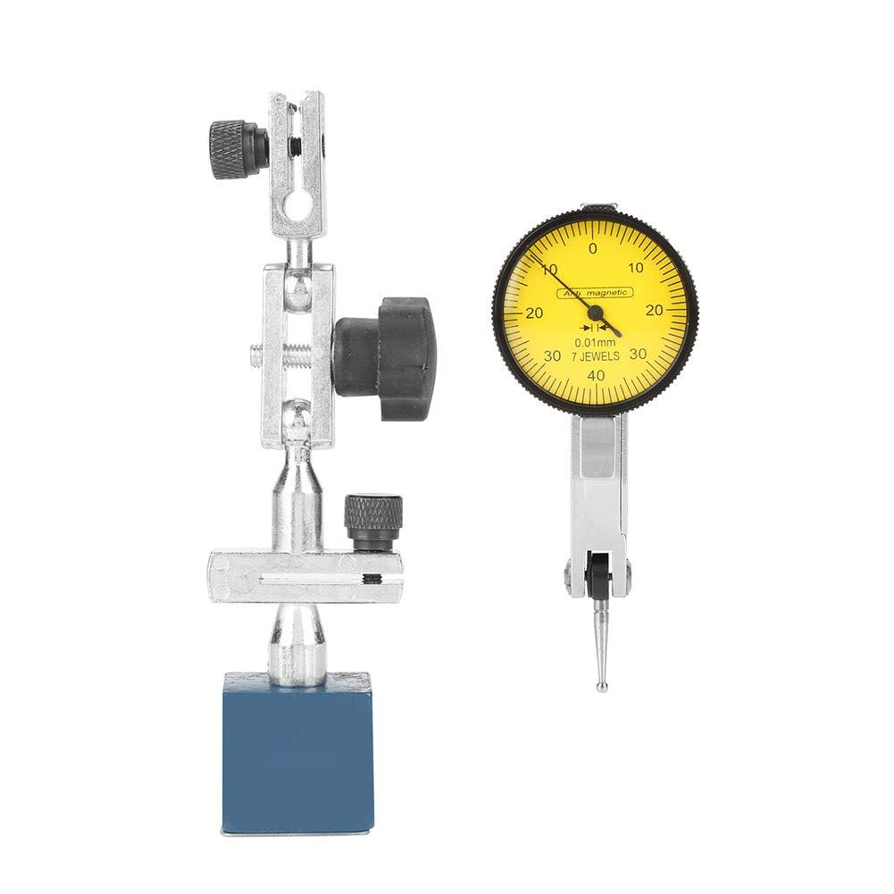0-0.8 mm Indicador de dial magn/ético Base Soporte de soporte Soporte de aleaci/ón de aluminio Soporte de calibre peque/ño ajustable para indicador de dial y comparador Base magn/ética