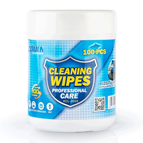 Pre-moistened Electronic Wipes - Screen Wipes, Great for LCD Screens, Glasses, TV Screens, Cell Phones, iPad, Computer and More - LCD Wipes (100 (100ct Screen)