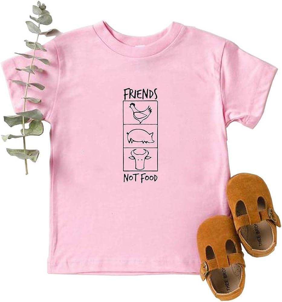 Friends Not Food Unisex Kids T Shirt Vegan Shirt Vintage Tee Toddler t Shirt