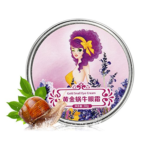So Beauty : Women effective Gold snail brand eye cream 3pcs/lot remove bags and dark circles finelines undeeyes care skin care
