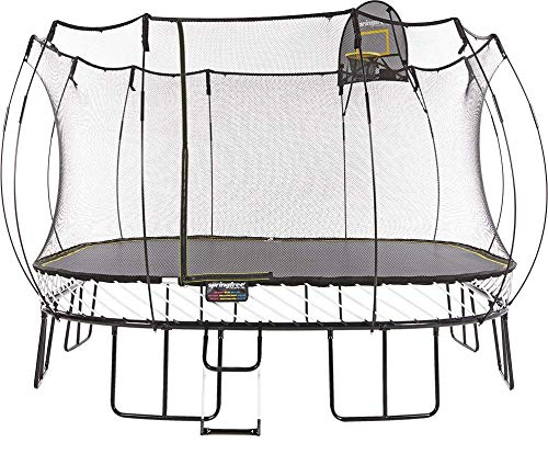 Springfree Trampoline - 13ft Jumbo Square With Basketball Hoop and...