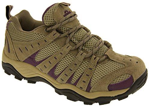 Damen Montana vollständig wasserdicht Walking/Wandern/Schnürschuh Trainer Schuh Beige