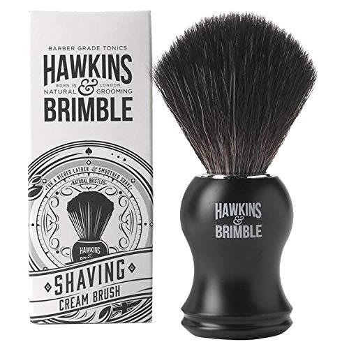 Hawkins & Brimble Shaving Brush | Synthetic Bristles | Vegan Friendly Shave Brush | Synthetic Shave Brush | Shave Brush for Men | Synthetic Shaving Brush
