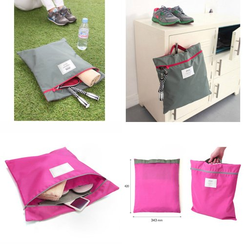 Paylow - 16.54 x 13.50 inch Waterproof Travel Daily Clothes Storage Bag Organizer, Color Random