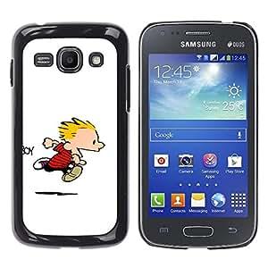 EJOY---Cubierta de la caja de protección la piel dura para el / Samsung Galaxy Ace 3 / --Calvin Hobbs