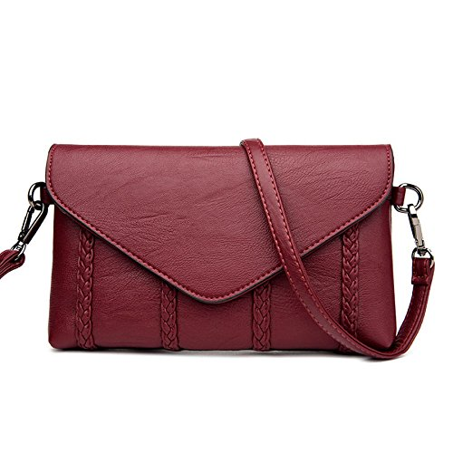 KYOKIM Bolso De Hombro De Las Mujeres Messenger Bag Bulk Simple Fashion Winered