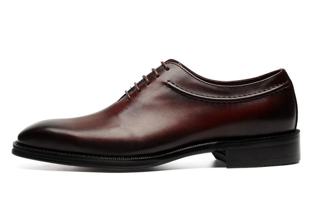 XIE Männer Formal Geschäft Echt Leder Schuhe Clever Spitze Oxford für Männer Schnüren Spitze Clever Schwarz Braun Hochzeit Büro Arbeit Party e78b45