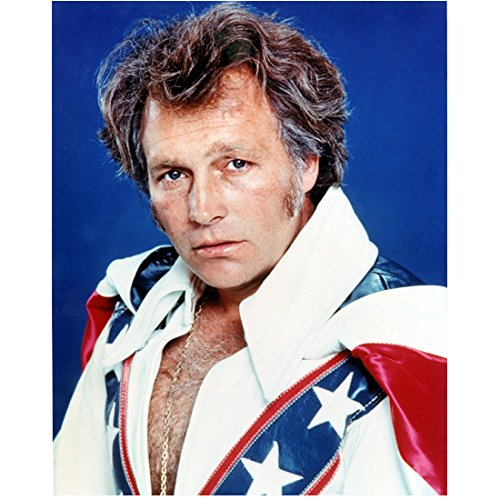 Evel Knievel 8 Inch x 10 Inch photograph Actor Viva Knievel! The Last of the Gladiators Death Defiers Wearing Red/White/Blue Costume -