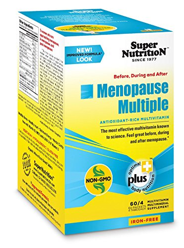 SuperNutrition Menopause Multiple Iron-Free Multivitamin, 60 Packets of 4 tabs Menopause Nutritional Support 60 Tabs
