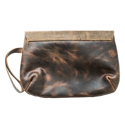 By Drink Bag Hide Clutch Chic Leather Bourbon Handmade amp; Brown wgI4aq