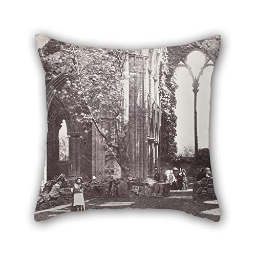 The Oil Painting Roger Fenton - Interior- Tintern Abbey Pillowcase Of 20 X 20 Inches / 50 By 50 Cm Decoration Gift For Her Couch Couples Boy Friend Bedding Car Seat (both Sides) ()