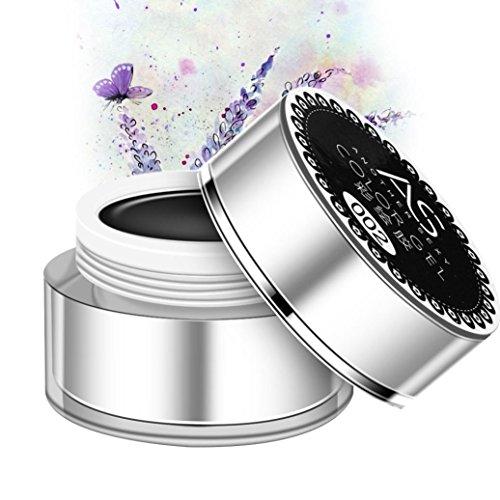 3D Nail Art Paint Draw Painting Acrylic Color UV Gel Tip DIY Kit (Black) - 1