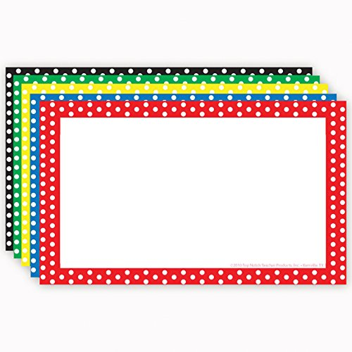 """Top Notch Teacher Products Border Blank Index Cards , 4"""" x 6"""