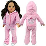 Sophia's Doll Clothing for 18 Inch Doll Clothes Outfit Play set of Sweatsuit with Crown Details, 2 Pc. Set Fits American Girl Dolls & More! Stylish Doll Sweatsuit, My Doll's Life