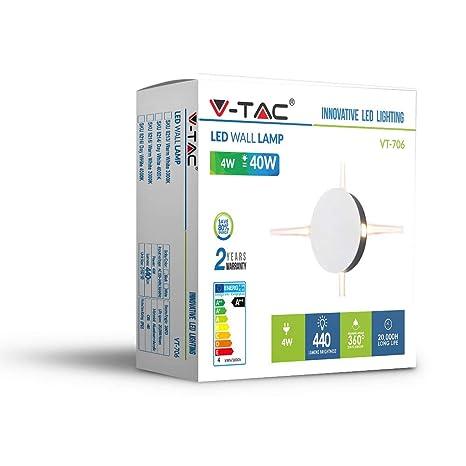 Lámpara de pared LED 7 W Wall Light IP65 color blanco V-TAC vt-