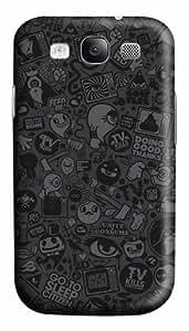 Halloween Ghost Cartoon Custom Polycarbonate Hard Case Cover for Samsung Galaxy S3 SIII I9300