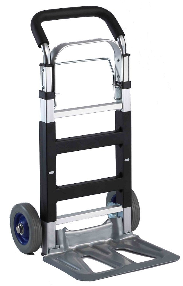 HERZO Folding Hand Truck//Sack Industrial Trolley with 120kg Loading Capacity for Indoor Outdoor Travel Shopping