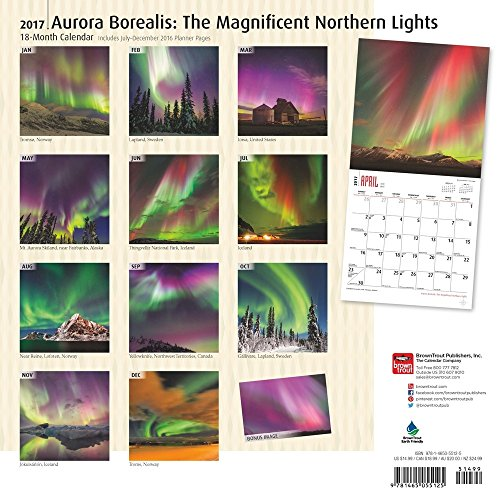 Good Aurora Borealis Northern Lights Calendar 2017 ~ Deluxe Wall Calendar  (12x12) High Quality Amazing Pictures