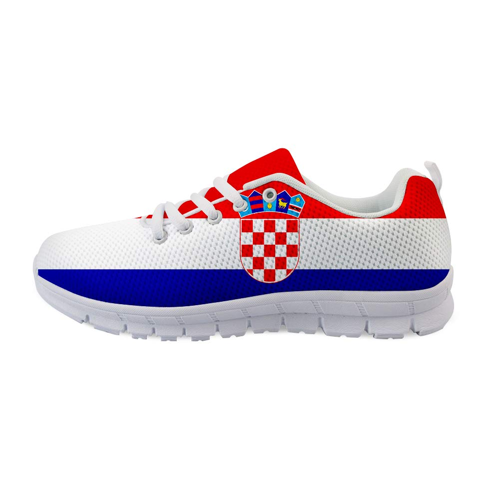 Owaheson Lace-up Sneaker Training Shoe Mens Womens Croatia Flag