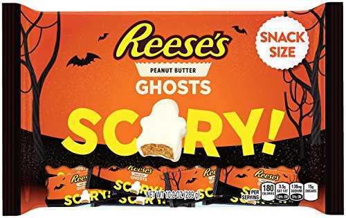 REESE'S Halloween Snack Size Ghosts (10.2-Ounce Bag, Pack of 24) by Reese's