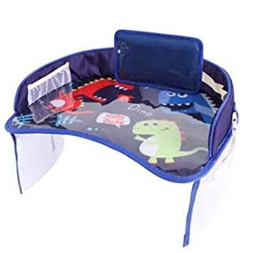 Bandeja de coche de bebé Placas Portátil Impermeable Pintura Comer ...