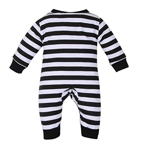 G-real Penguin Jumpsuit, Unisex Baby Newborn Infant Cartoon Penguin Striped Romper Long Sleeve Pajamas Sleeper For 0-18M