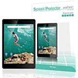 Nexus 9 Screen Protector, amFilm® Premium HD Clear Screen Protector for Google HTC Nexus 9 2014 (2 Pack) [Lifetime Warranty]