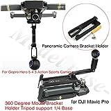 For Gopro Hero 5 4 3 Action Sports Camera 360 Degree Mount Bracket Holder Tripod support 1/4 Base for DJI Mavic Pro