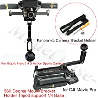 For Gopro Hero 5 4 3 Action Sports Camera 360 Degree Mount Bracket Holder Tripod support 1/4 Base for DJI Mavic Pro