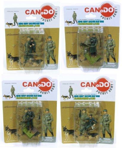 1:35 Combat Figure Series 7 Mg42 Gun Team Feldgendarmerie Set Of 4