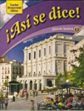 Asi Se Dice! (Glencoe Spanish 1) Teacher Wraparound Edition