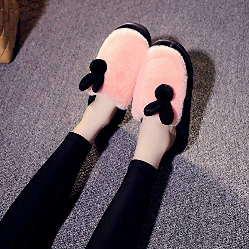 Home Warm Ladies DEED Indoor Decoration Wooden Soles and Thickening Floor Winter Home Orange Cotton Warm Autumn Slippers Slippers vwvFInqX